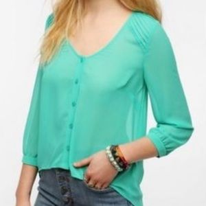 Urban Outfitters pins & needles teal blouse